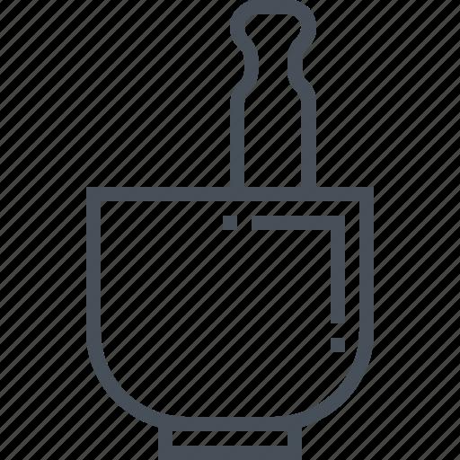 garlic, kitchen, mill, mortar, pestle, plant, souce icon