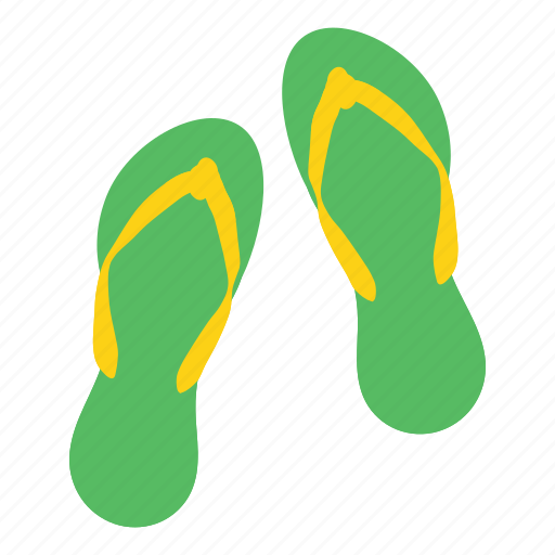 casual, fashion, flipflops, footwear, holiday, slippers, wear icon