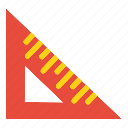 drawing, education, math, measurement, ruler, scale, tool icon