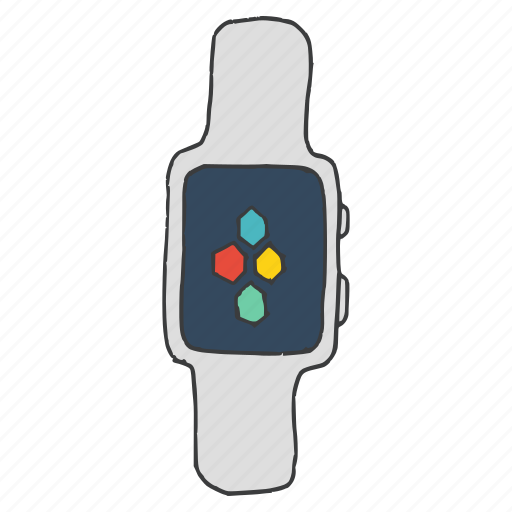 accessory, apple, device, iwatch, smartwatch, time, watch icon