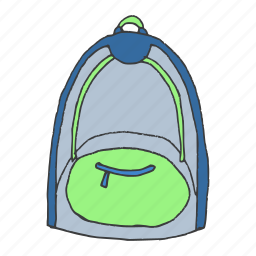 backpack, bag, education, school, student, travel, vacation icon