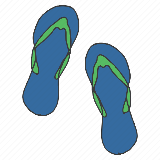 casual, clothing, dress, fashion, flipflops, slippers, wear icon