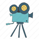 camera, equipment, film, movie, record, shoot, video icon