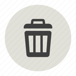 delete, dustbin, trashbin, waste icon