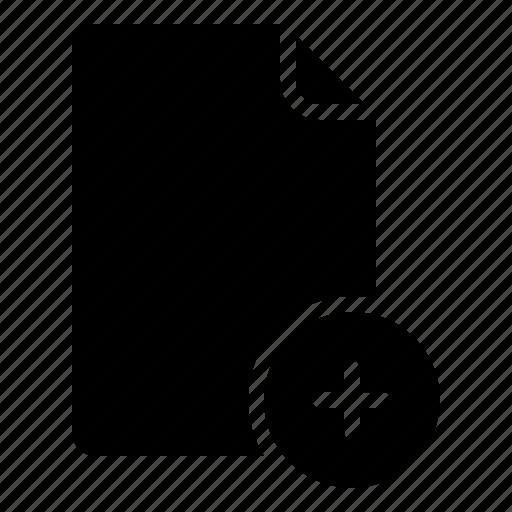 create, document, file, import, new, paste icon