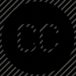 cc, commons, creative, license, logos, publication icon