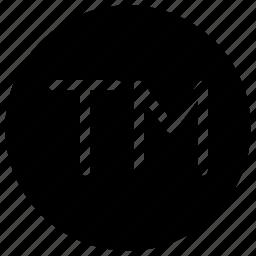 alphabet, copyright, phonogram, tm, trademark icon