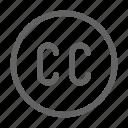 cc, commons, creative, license icon