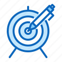 content, marketing, seo, target icon