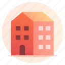 apartment, architecture, building, home, hotel, property icon