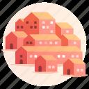 architecture, building, city, community, property, village, urbanization