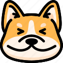 dog, emoji, emotion, expression, face, feeling, happy