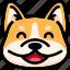 corgi, emoji, emotion, expression, face, feeling, laughing icon