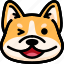 corgi, emoji, emotion, expression, face, feeling, laughing icon