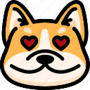 corgi, emoji, emotion, expression, face, feeling, love