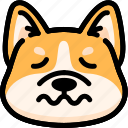 dog, emoji, emotion, expression, face, feeling, nervous