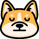 corgi, emoji, emotion, expression, face, feeling, neutral
