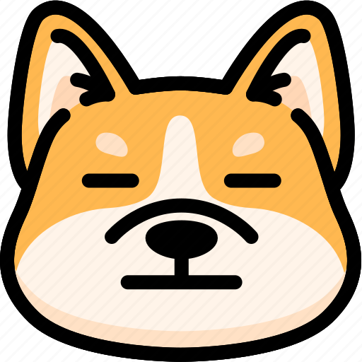 Dog, emoji, emotion, expression, face, feeling, neutral icon - Download on Iconfinder