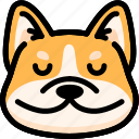 corgi, emoji, emotion, expression, face, feeling, peace