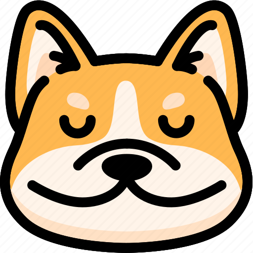 corgi, emoji, emotion, expression, face, feeling, peace icon