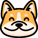dog, emoji, emotion, expression, face, feeling, smile