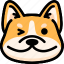 corgi, emoji, emotion, expression, face, feeling, smile