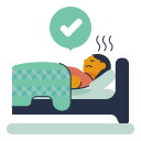 bed, patient, rest, sick, sleep icon