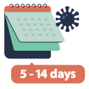calendar, date, days, disease, period, virus icon