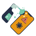 disinfect, disinfectant, phone, product, smartphone, spray icon