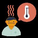 disease, fever, high, symptom, temperature, virus icon