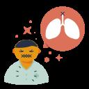 disease, lungs, pain, symptom, virus icon