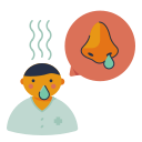 disease, nose, runny, symptom, virus icon