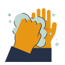clean, hand, hygiene, scrub, scrubbing icon