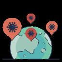 disease, global, infection, international, spread, virus icon
