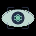 visibility, view, eye, disease, virus icon