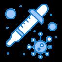 dropper, petri, transmission, virus icon