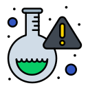 flask, lab, research, virus icon