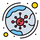 infection, covid19, coronavirus, virus, worldwide icon