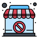 banned, closed, shop, sign icon