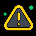 error, notice, virus, warning icon