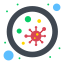 bacterium, blood, germs, microbe, virus icon
