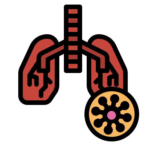 anatomy, breath, lung, organ, pneumonia icon