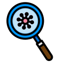corona, corona virus, coronavirus, covid, devirus, glass, interfac, magnifying, virus icon