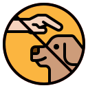 dog, gestures, hands, trainer, training icon