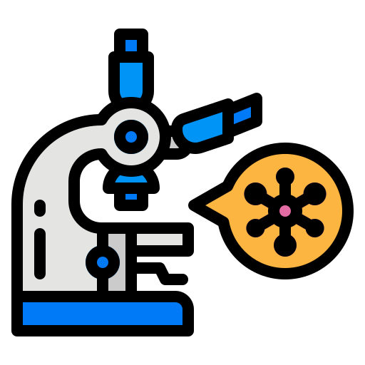 lap, microscope, research, test, virus icon