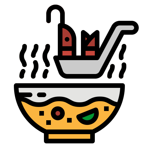 bowl, food, middle, soup, spoon icon