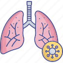 breath, coronavirus, coronavirus lungs, pulmonology icon