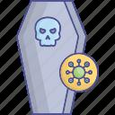 coffin, corona, coronavirus icon