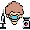 corona virus medicine, coronavirus vaccination, medicine, vaccination icon