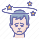 corona, coronavirus, disease, dizzy, faint, headache icon